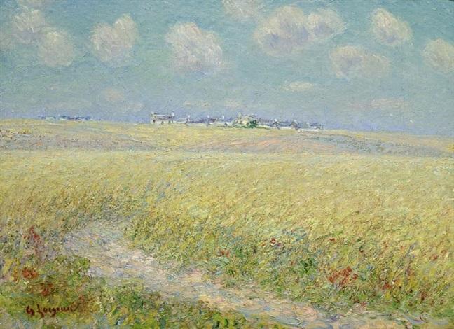 champs de blé by gustave loiseau