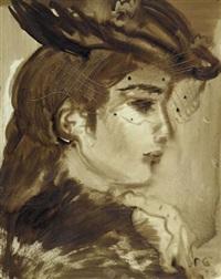 portrait einer frau by rostislav nikolaevic barto