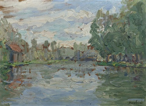bord du loing, moret by francis picabia