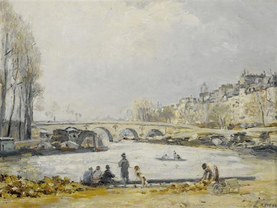 la seine au pont marie by stanislas lépine