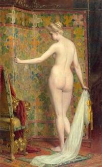 stehender weiblicher akt by carl probst
