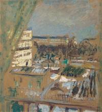 le square lamartine vu des fenêtres de l'artiste by edouard vuillard