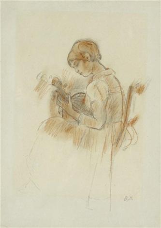 julie à la mandoline by berthe morisot