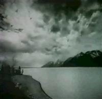 jackson lake, clouds, grand teton national park by alan ross