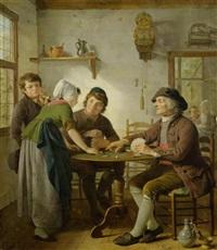 kartenspieler im wirtshaus by adriaen de lelie