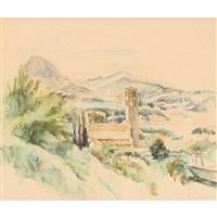 südtessiner landschaft mit kirche by abram adolphe milich