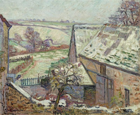 crozant première neige by armand guillaumin