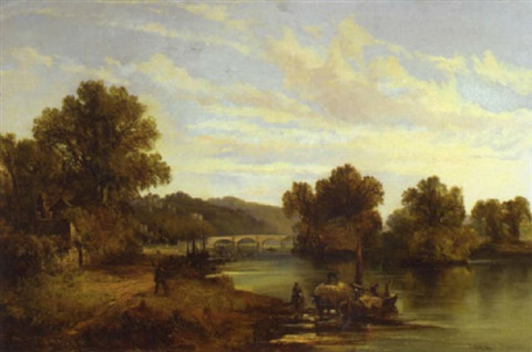 a view of old richmond bridge by joseph adam