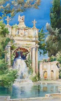 villa d'este by ernest-louis lessieux