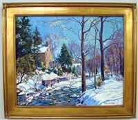 winter brook, carversville, pa by tatiana alexeeva