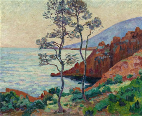 les roches rouges dagais by armand guillaumin