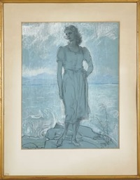 young venus rising from the sea by violet oakley