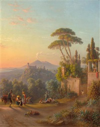 ansicht von castellamare di stabia by johann-rudolph buhlmann