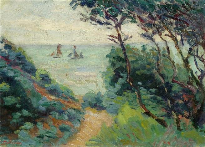 la côte de lesterel paysage du midi by armand guillaumin