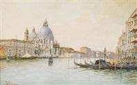 canal grande in venedig mit santa maria della salute by rafael senet y perez