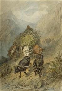 kosaken mit ochsengespann in den bergen by konstantin nikolaevich filippov