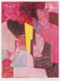 composition rouge by serge poliakoff