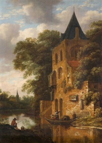 kirche an einem kanal by roelof van vries