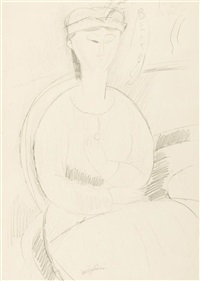 beatrice hastings au chapeau by amedeo modigliani