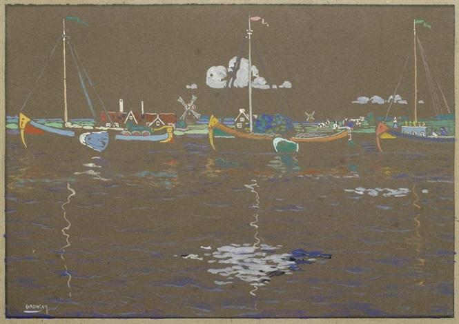die schiffe (holland) by wassily kandinsky