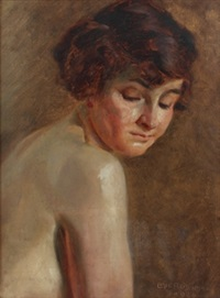 damenporträt by emil fleischmann