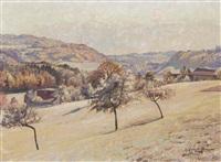 herbstliche landschaft by paul lepinard