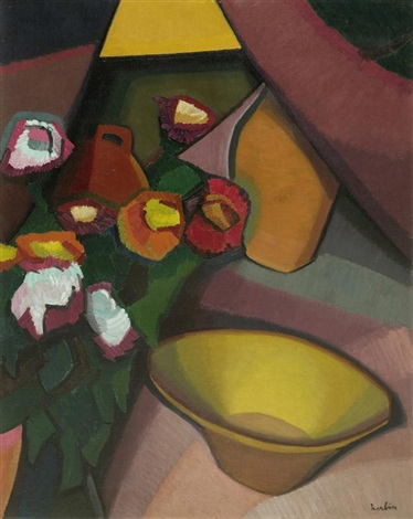 nature morte à la cuvette by auguste herbin