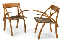wishbone armchairs (pair) by arthur espenet carpenter