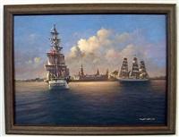 naval ship scene by tony fachet