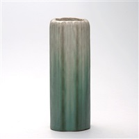 green/white vase by arequipa pottery