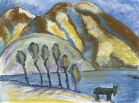 au bord du lac by marianne werefkin