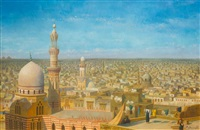 vue du cairo, la mosqué royale by richard karlovich zommer