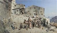 emigrazione dell agro romano (+ partendo und tornando; pair) by giovanni piancastelli