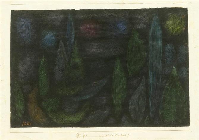 nächtliche landschaft by paul klee