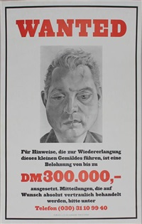 seltenes plakat wanted portrait of francis bacon by lucian freud