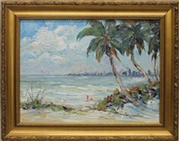 floridian ocean scene by evelyn faherty