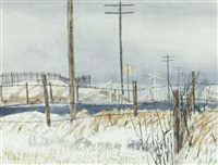 railway crossing near macloed by j. stanford perrott