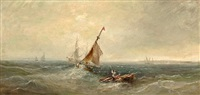 fishing vessels long the shore by william webb