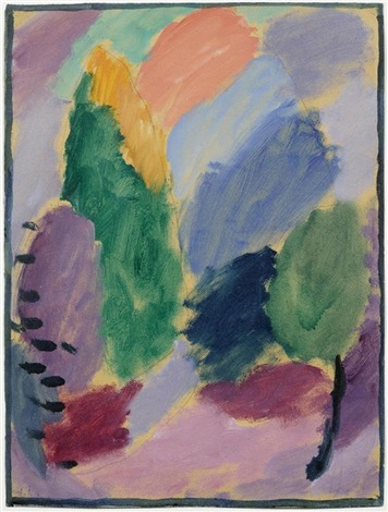 variation (+ another, verso) by alexej jawlensky