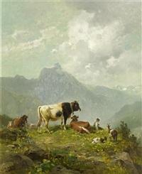 hirtenjunge in den bergen by ludwig gustav voltz