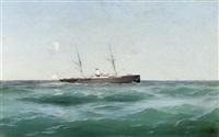 schiff auf dem meer by mikhail alisov