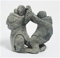 two figures one with child in her amauti by laymeekie kakkee