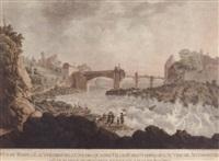 vue du rhin a lauffenbourg l'une des quatres villes forrestieres de l'autriche anterieure by georg friedrich gmelin