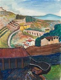 landschaft bei siena by marianne werefkin