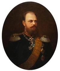 portrait des zaren alexander iii by johann köler