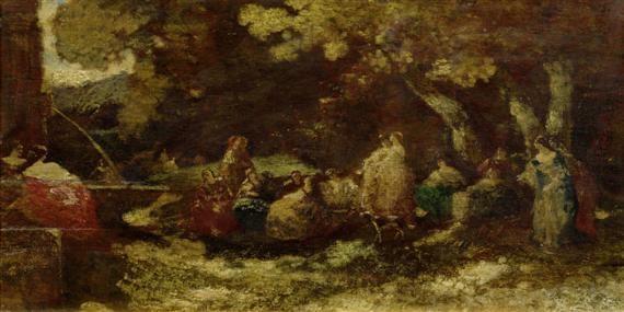 farniente en forêt de fontainebleau by narcisse virgile diaz de la peña