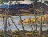 lake ouateau, st. donat, p.q. by fleurimond constantineau
