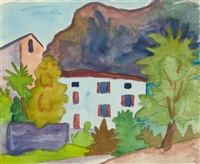pazzallo (+ landschaftsstudie, verso) by hermann hesse