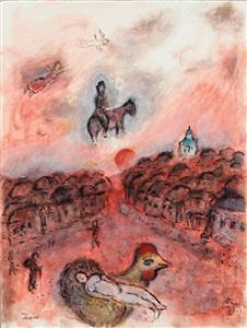 """Image result for Marc Chagall  """"Repos sur coq et chevauchée au village rouge"""""""