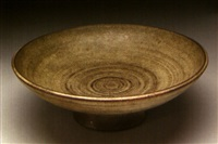 a footed bowl by laura andreson